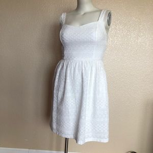 Nine West Eyelet White Sweetheart Summer Dress 10